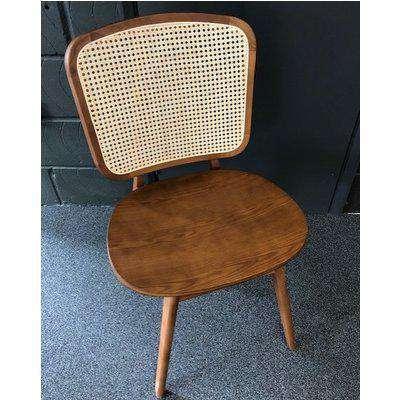 Rockett St George Modern Cane Wooden Dining Chair
