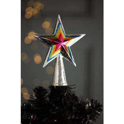 Multicoloured Star Christmas Tree Topper