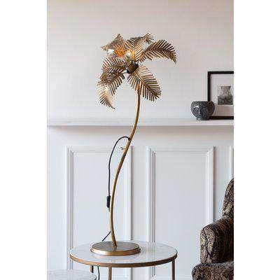 Rockett St George Palm Tree Flower Floor / Table Lamp