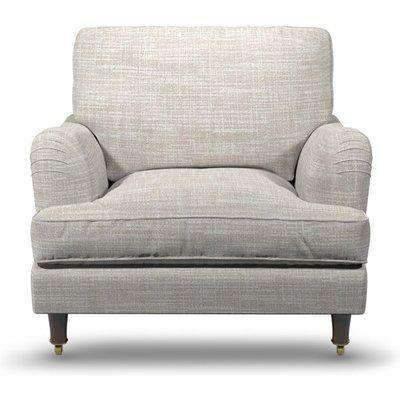 Perfect Armchair In Alabaster Boucle Fabric