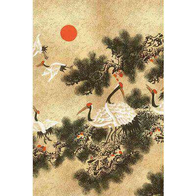 Random Metallics Ukiyo Wallpaper Mural - Gold - SAMPLE