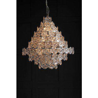Showstopping Multi-Layer Glass Chandelier