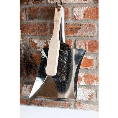 Silver Square Dustpan & Brush