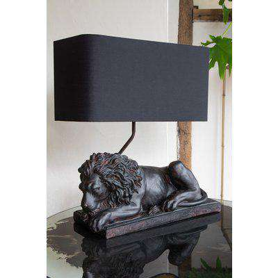 Sleeping Lion Table Lamp With Lamp Shade