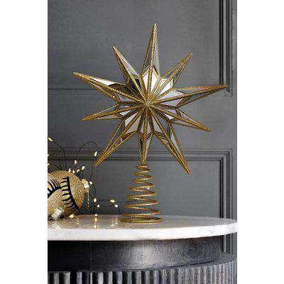 Gold Star Christmas Tree Topper