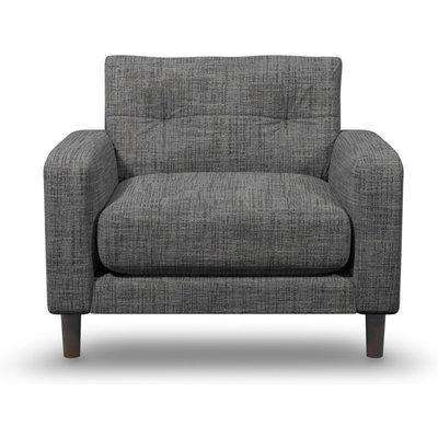 Suave Armchair In Shale Boucle Fabric