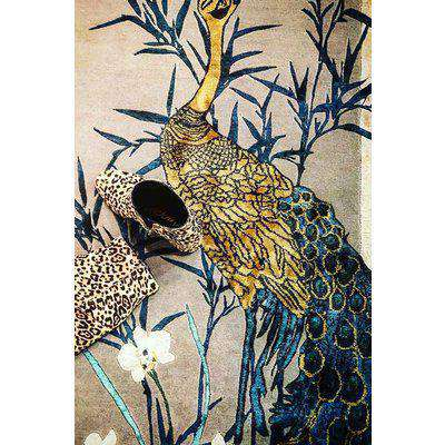 Wendy Morrison Chinese Garden of Virtue Hand Knotted Wool & Silk Rug - 183cm x 274cm