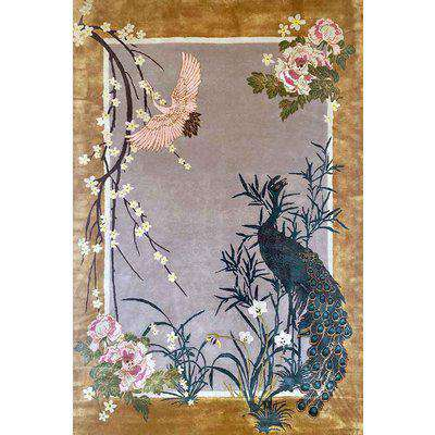 Wendy Morrison Chinese Garden of Virtue Hand Knotted Wool & Silk Rug - 3 Sizes Available