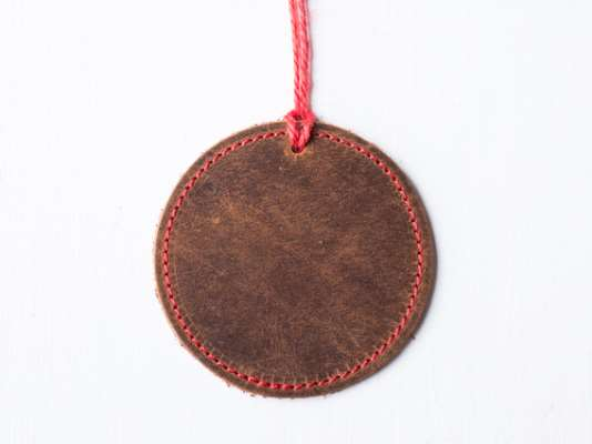 Leather Bauble Christmas Tree Decoration