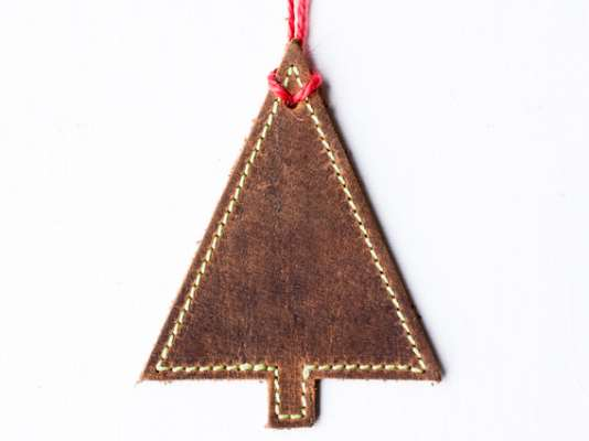 Leather Christmas Tree Decoration