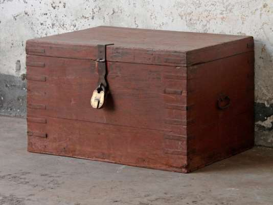 Old Wooden Chest  Large