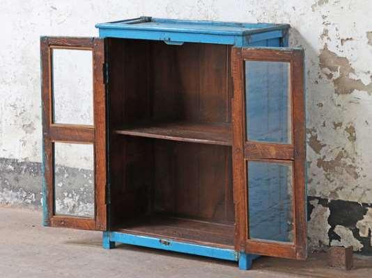 Vintage Blue Display Cabinet  Medium