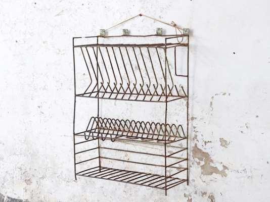 Vintage Metal Storage Rack  Large