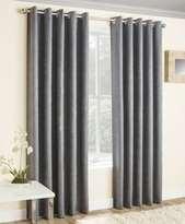 Grey Thermal Curtains Blockout Eyelet Vogue