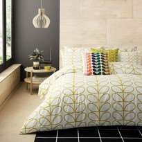 Orla Kiely Linear Stem Dandelion Housewife Pillowcase Pair