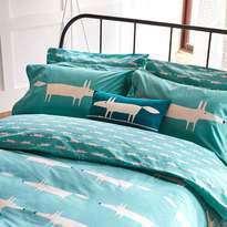 Scion Mr Fox Oxford Pillowcase Teal
