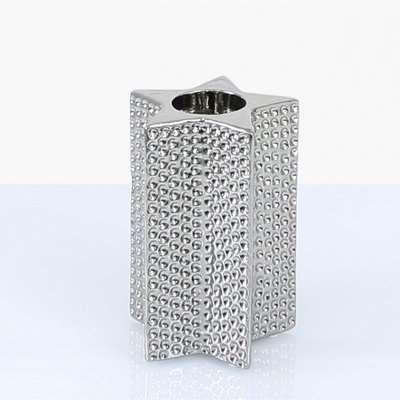 Deco Home 15cm Star Tealight Holder Silver