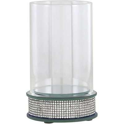 Deco Home 17.5cm Glitz Hurricane Pillar Candle Holder