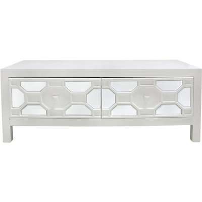 Deco Home 2 Drawer Rueben Geometric Wood Coffee Table White