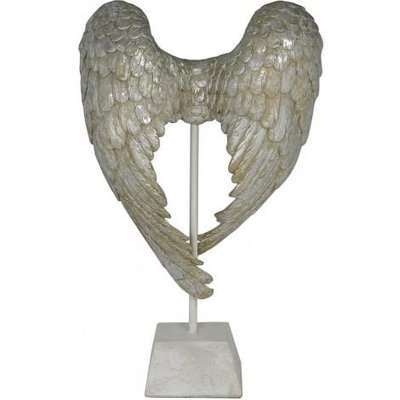 Deco Home Antique Mother Of Pearl Angel Wings Sculpture