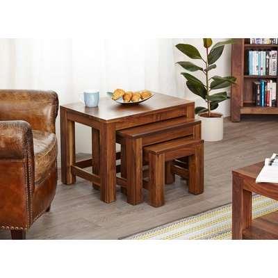 Baumhaus Mayan Walnut Nest of 3 Coffee Tables