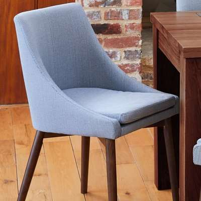 Baumhaus Walnut Grey Chair (Pack of two)