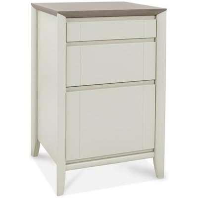 Bentley Bergen Grey Washed Oak & Soft Grey Filing Cabinet