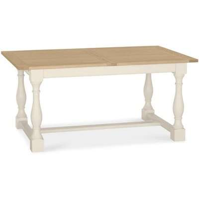 Bentley Chartreuse Aged Oak And Antique White Extending Dining Table