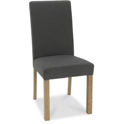 Bentley Parker Light Oak Chair Cold Steel Dining Chairs