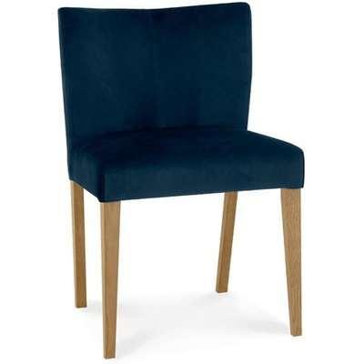 Bentley Turin Low Back Dark Blue Light Oak Dining Chairs