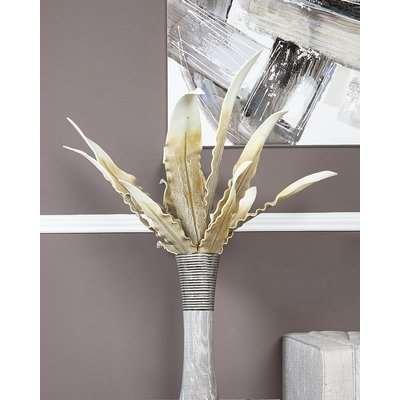 Deco Home Brown Foam Single Stem Gladiola Leaves Flower