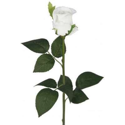 Deco Home Cream Real Touch Single Stem Rose Bud Flower