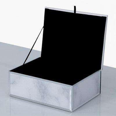 Deco Home Medium Grey Marble Trinket Box