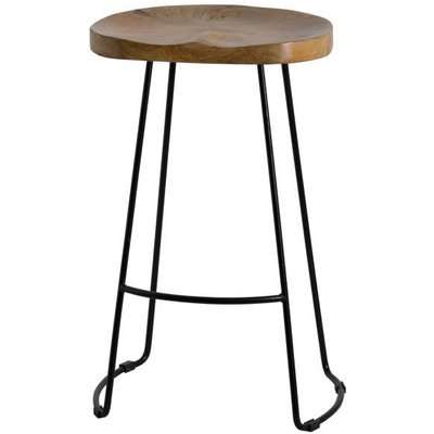 Franklin Hardwood Shaped Barstool