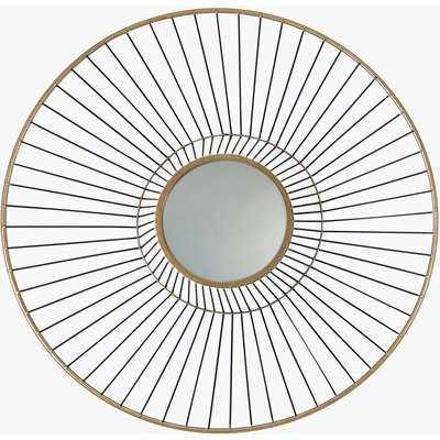 Deco Home Gold Metal Wall Art With A Round Mirror 66cm