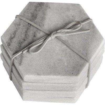 Hill Grey Marble Hexagonal Coaster