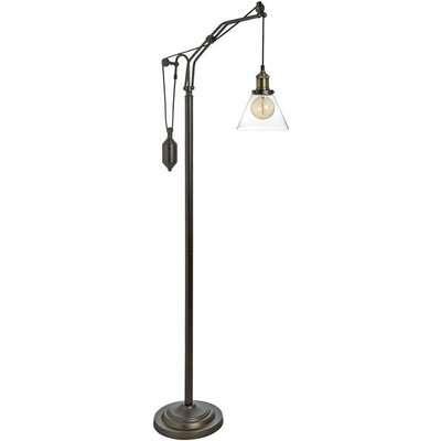 Hill Hudson Adjustable Industrial Floor Lamp
