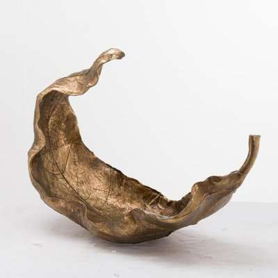 Hill Interiors Large Gold Curled Leaf Sculpture