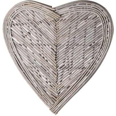 Hill Large Heart Wicker Wall Art