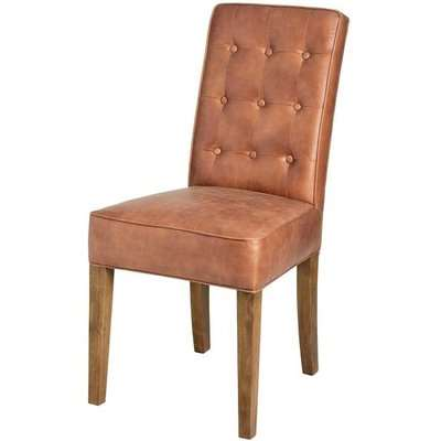 Hill Tan Faux Leather Dining Chair