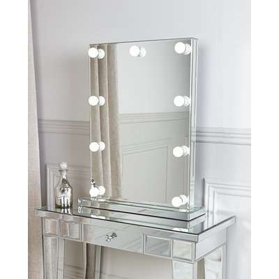 Deco Home Hollywood Dressing Table Vanity Mirror With 9 Dimmable LED Light Bulbs