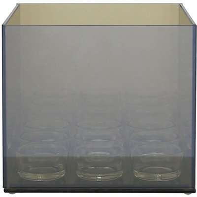 Deco Home Isabelle Glass 4 Tealight Holder Grey