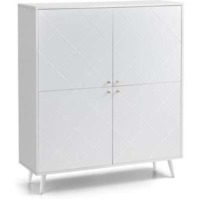 Julian Bowen Moritz 4 Drawer Display Cabinet