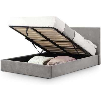 Julian Bowen Shoreditch High Headboard Lift-Up Storage Bed / Slate Grey / Double