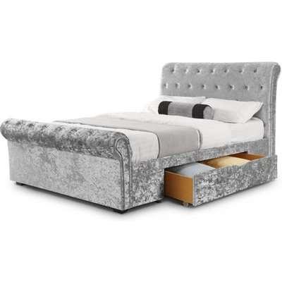 Julian Bowen Verona Storage Bed / Silver Crush / King