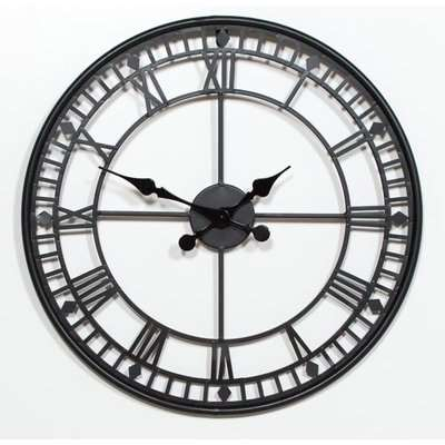 Maison Reproductions Black Metal Wall Clock