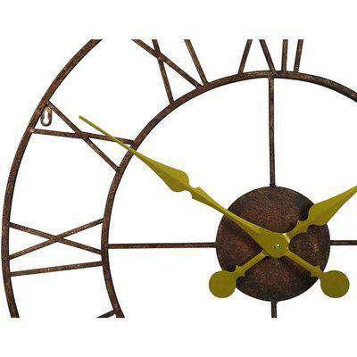 Maison Reproductions Rustic Medium Metal Wall Clock