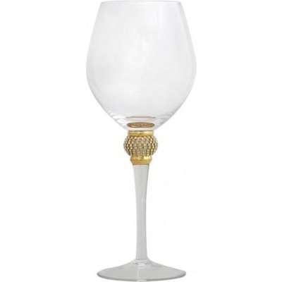 Deco Home Makayla Red Wine Glass Diamante Ball