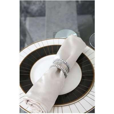 Deco Home Set Of 4 5cm Glitz Napkin Ring Set