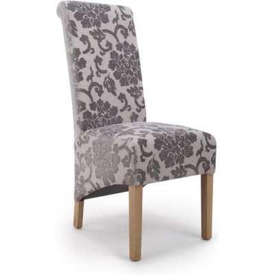 Shankar Krista Roll Back Baroque Velvet Mink Dining Chair (2pk)